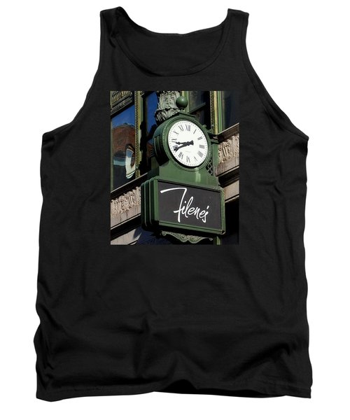 Tank Top featuring the photograph Filene's Basement Clock by Caroline Stella