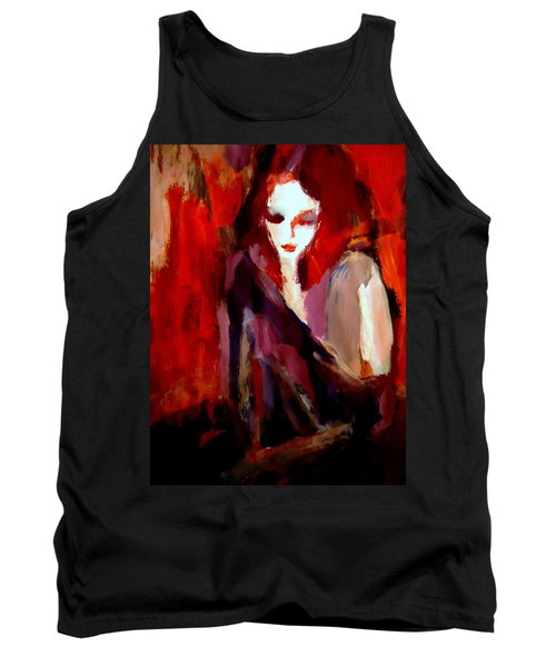 Tank Top featuring the painting Finesse by Helena Wierzbicki