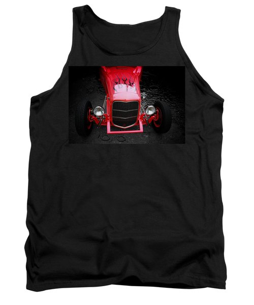 Hot Rod Tank Top featuring the photograph Fire And Water by Aaron Berg