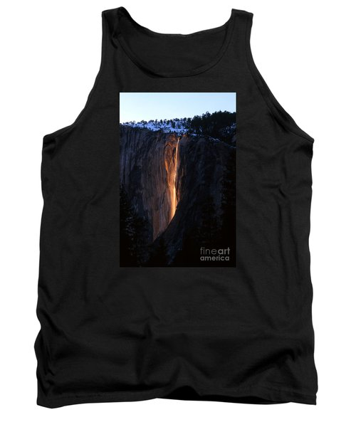 Fire Falls In Yosemite  Tank Top