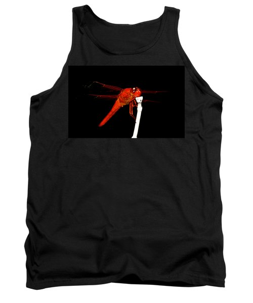 Tank Top featuring the photograph Fire Red Dragon by Peggy Franz