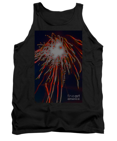 Tank Top featuring the photograph Fire Works by Mae Wertz