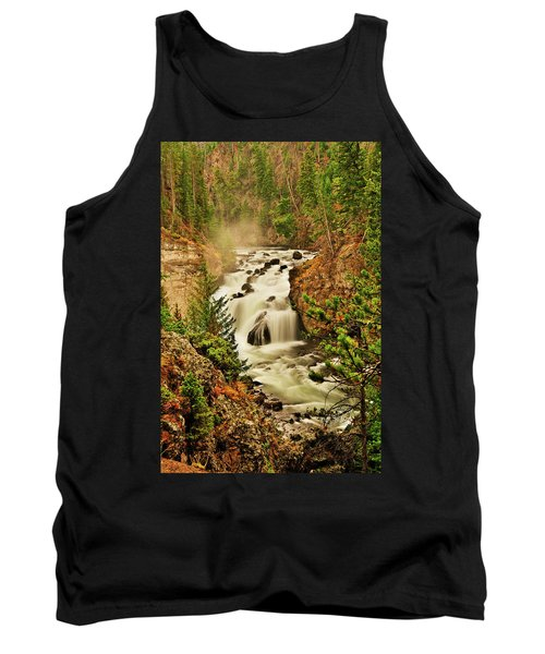 Tank Top featuring the photograph Firehole Falls by Greg Norrell
