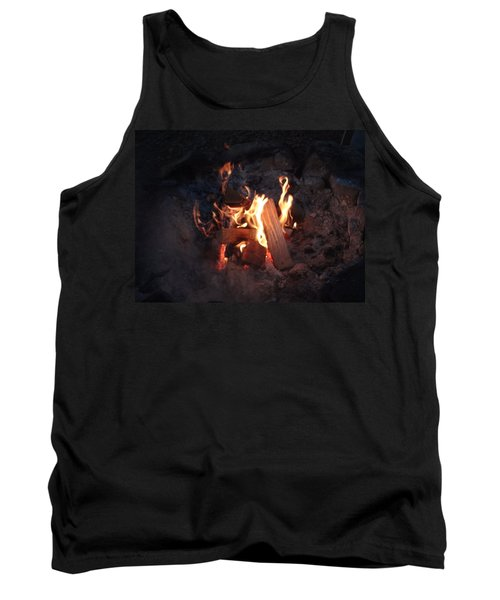 Tank Top featuring the photograph Fireside Seat by Michael Porchik
