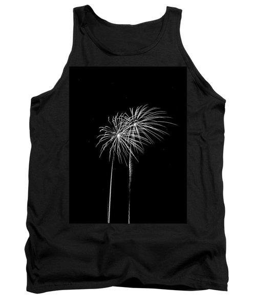 Firework Palm Trees Tank Top by Darryl Dalton