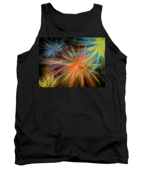 Tank Top featuring the digital art Fireworks by Christine Fournier
