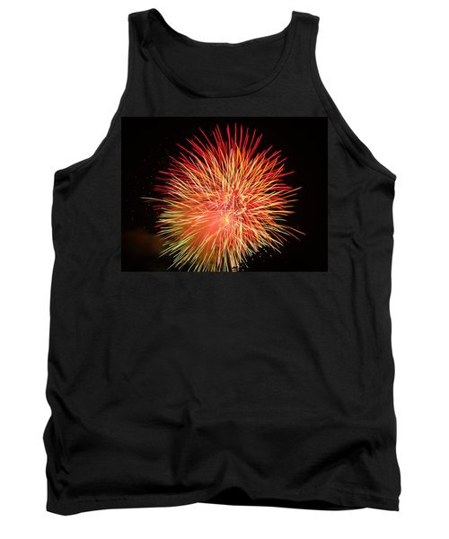 Tank Top featuring the photograph Fireworks  by Michael Porchik