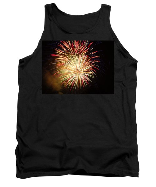 Tank Top featuring the photograph Fireworks Over Chesterbrook by Michael Porchik