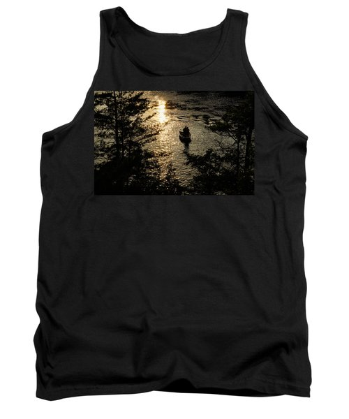 Fishing At Sunset - Thousand Islands Saint Lawrence River Tank Top