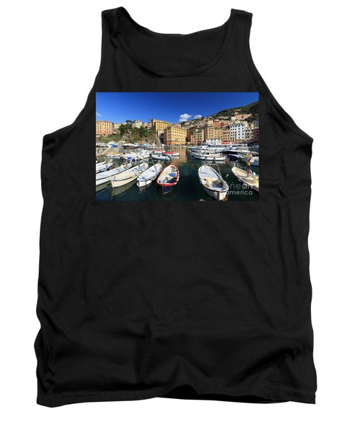 Tank Top featuring the photograph fishing boats in Camogli by Antonio Scarpi