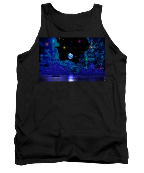 Tank Top featuring the photograph Fishing by Mark Blauhoefer