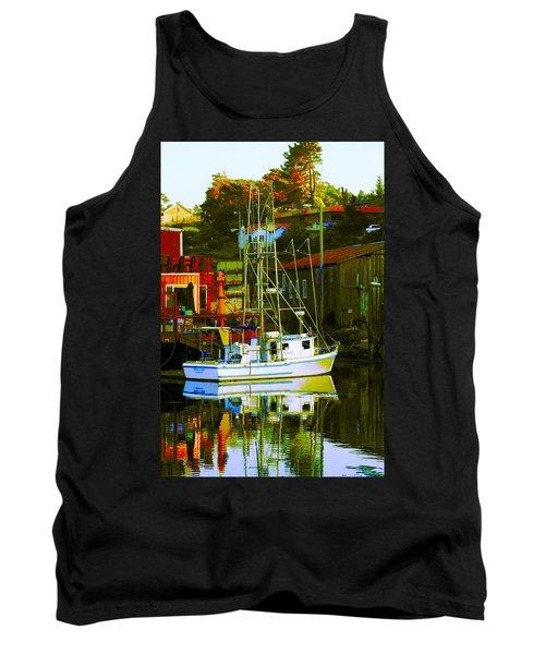Fish'n Boat At Harbor Tank Top