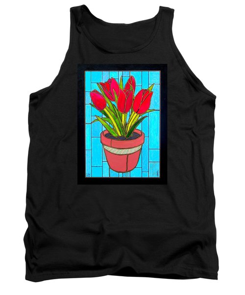Five Red Tulips Tank Top