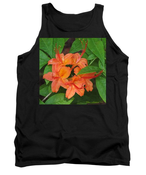 Tank Top featuring the photograph Flame Azalea by Chris Anderson