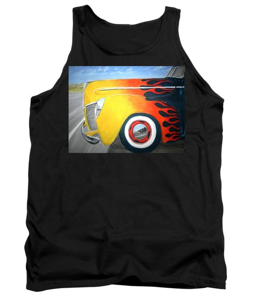 Tank Top featuring the painting Flames by Stacy C Bottoms