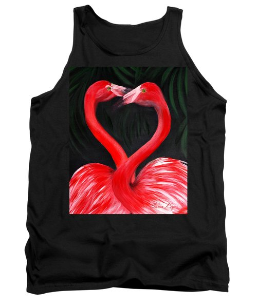 Love  Is... Flamingo Love. Inspirations Collection Tank Top