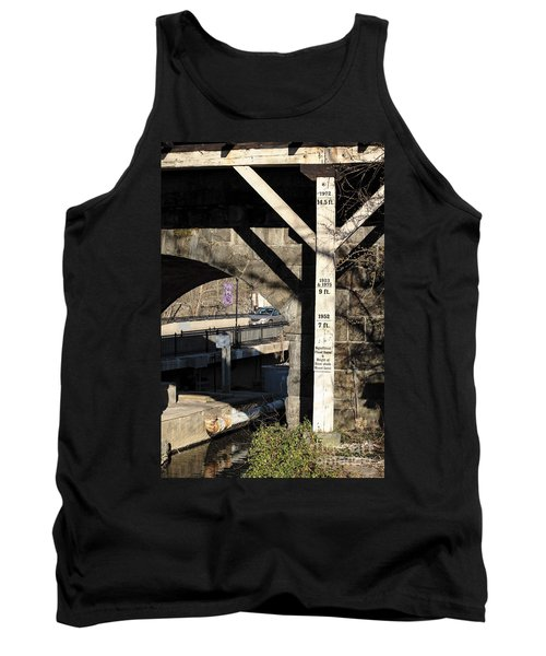 Flood Height Sign At Ellicott City Maryland Tank Top