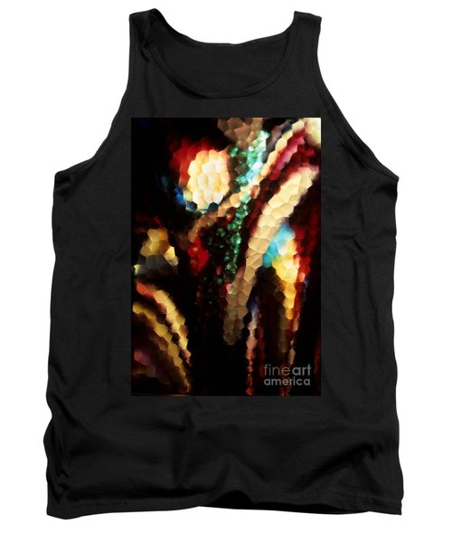 Floral Abstract I Tank Top by Sharon Elliott