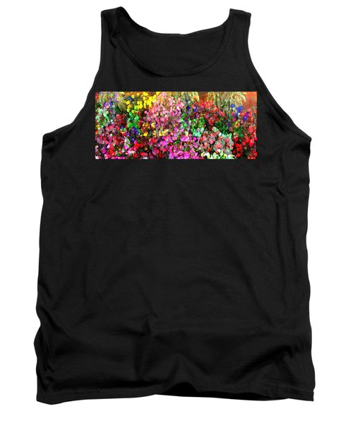 Floral Basket 1  2.4 To 1 Aspect Ratio Tank Top