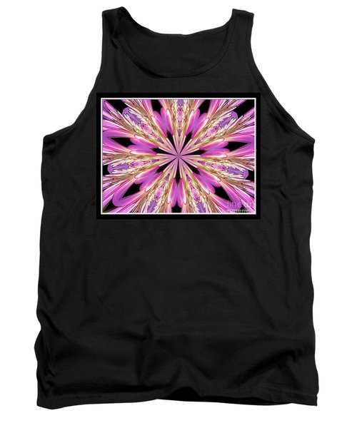 Tank Top featuring the photograph Floral Kaleidoscope  Waterlily by Rose Santuci-Sofranko