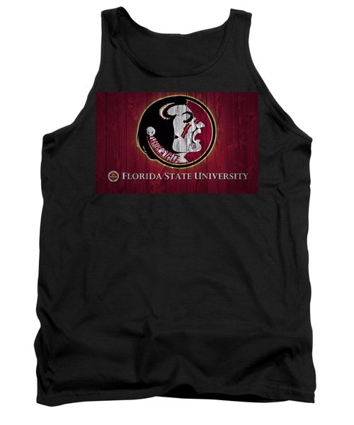 Tank Top featuring the mixed media Florida State University Barn Door by Dan Sproul