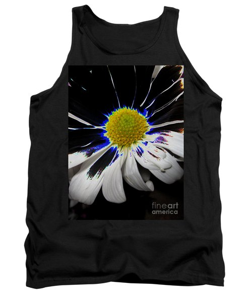 Art. White-black-yellow Flower 2c10  Tank Top