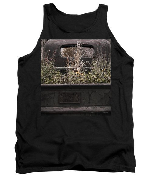 Tank Top featuring the photograph Flower Bed - Nature And Machine by Steven Milner