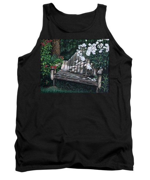 Flower Garden Seat Tank Top by Penny Birch-Williams
