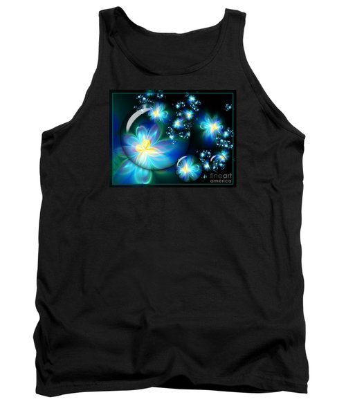Flower Marble Fractal Tank Top by Lena Auxier