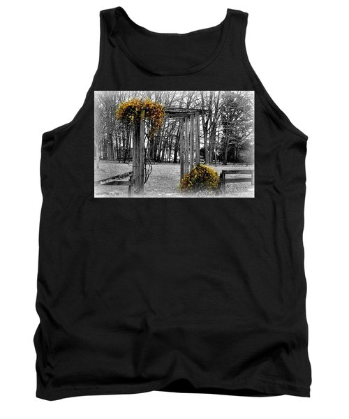 Tank Top featuring the photograph Flowering Archway by Tara Potts