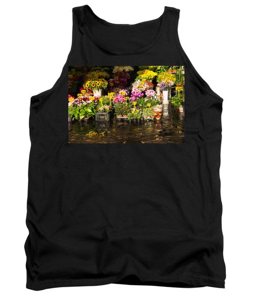 Flowers For Sale At Campo De Fiori - My Favourite Market In Rome Italy Tank Top