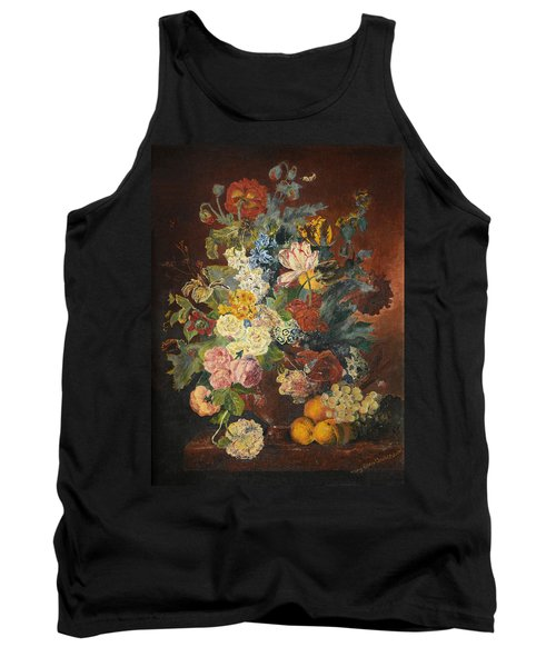 Tank Top featuring the painting Flowers Of Light by Mary Ellen Anderson
