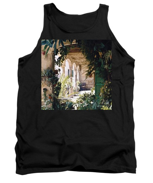 Flowery Majorquin  Patio In Valdemosa Tank Top