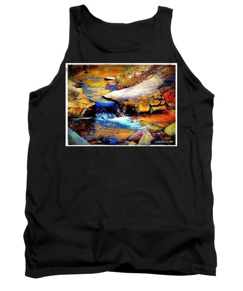 Tank Top featuring the photograph Flowing Creek by Tara Potts