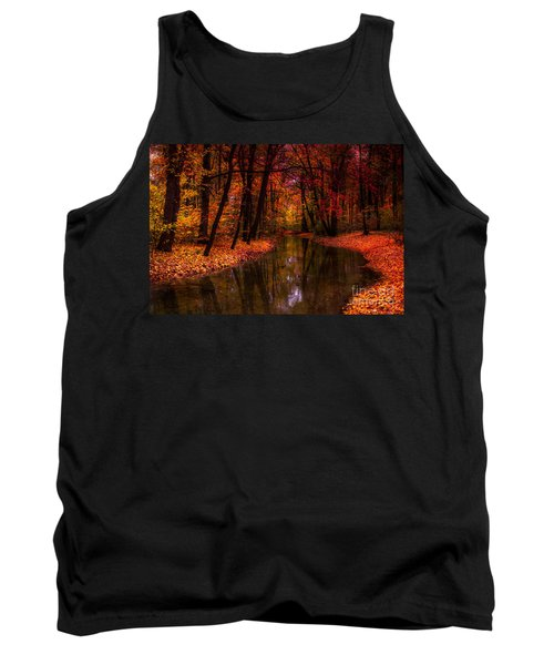 Flowing Through The Colors Of Fall Tank Top by Hannes Cmarits
