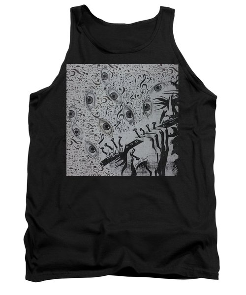 Tank Top featuring the mixed media Flute Concerto In Eye Minor by Douglas Fromm