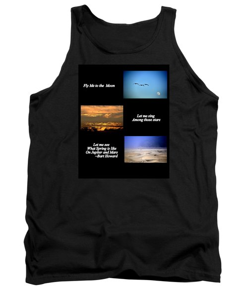 Fly Me To The Moon Tank Top by AJ  Schibig