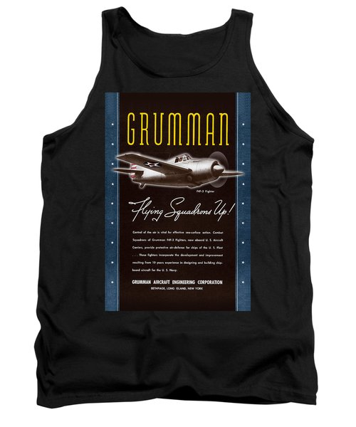 Grumman Flying Squadrons Up Tank Top