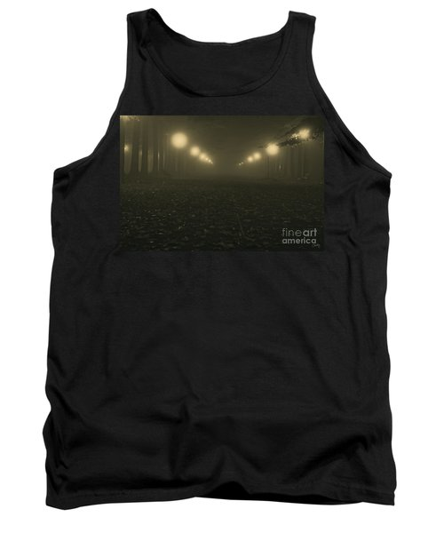 Foggy Night In A Park Tank Top