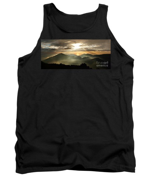 Foggy Sunrise Over Haleakala Crater On Maui Island In Hawaii Tank Top