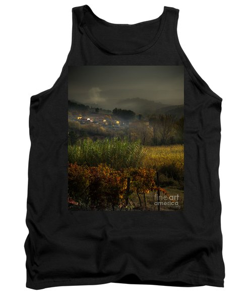 Foggy Tuscan Valley  Tank Top