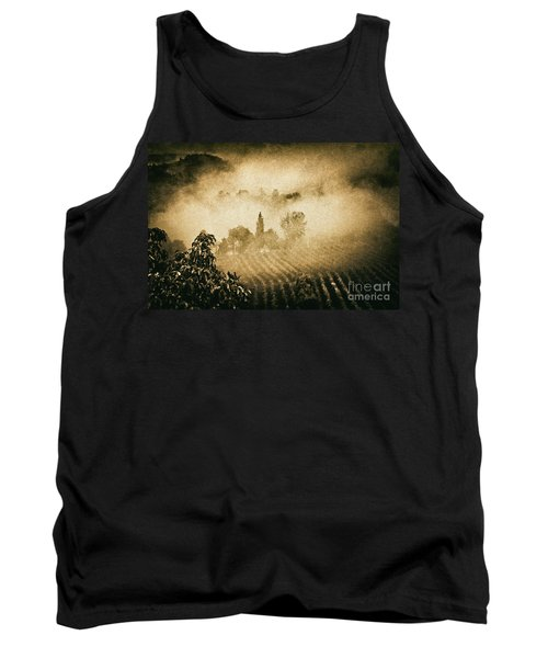 Tank Top featuring the photograph Foggy Tuscany by Silvia Ganora