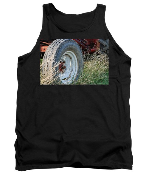 Tank Top featuring the photograph Ford Tractor Tire by Jennifer Ancker