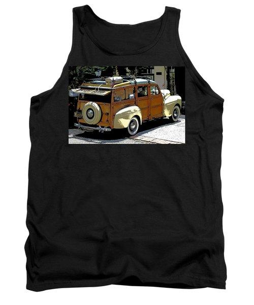 Ford Woodie Tank Top by Anne Mott