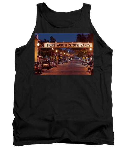 Fort Worth Stock Yards Night Tank Top