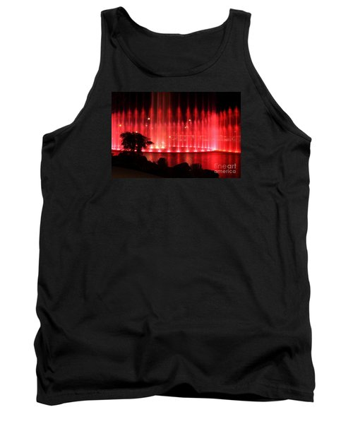 Tank Top featuring the photograph Fountain Of Red by Geraldine DeBoer