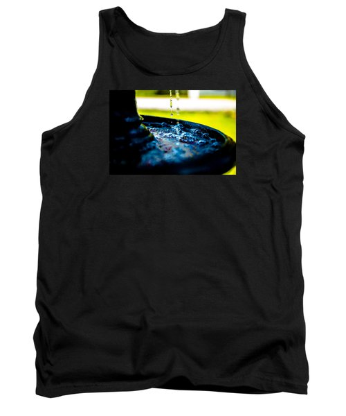Fountain Of Time Tank Top by Mez
