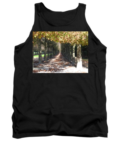 Tank Top featuring the photograph Fountainebleau - Under The Trees by HEVi FineArt