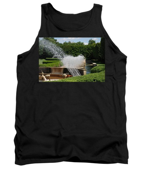 Tank Top featuring the photograph Fountains by Jennifer Ancker