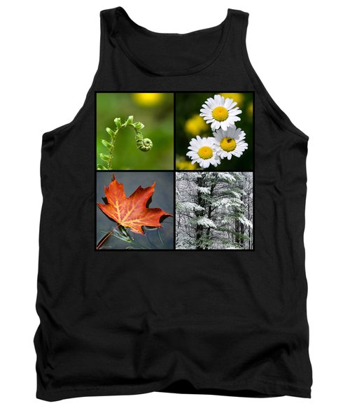Tank Top featuring the photograph Four Seasons Nature Square by Christina Rollo